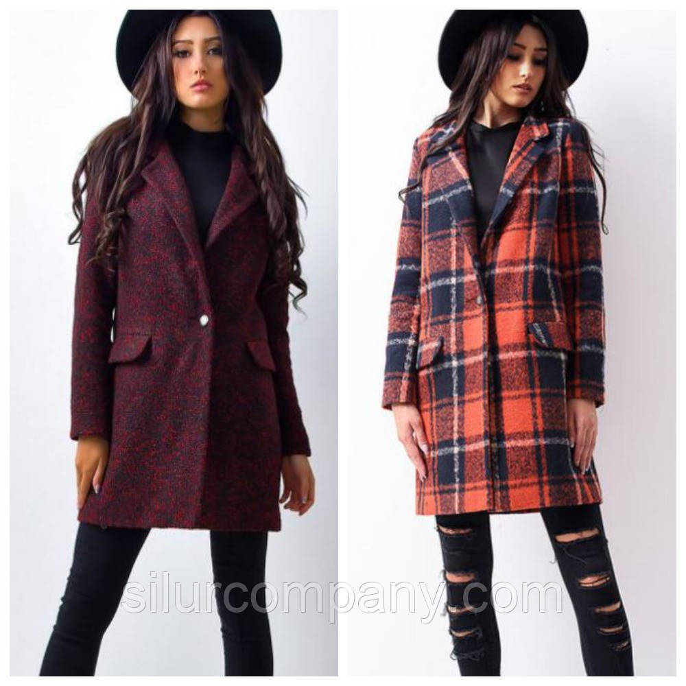 545a4c8b915 Модное пальто в клетку из шерсти