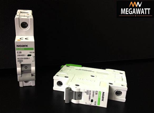 Модульний автоматичний вимикач 1/25A серія EX9BS, 1P C25 4,5KA, фото 2