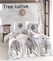 Постельное бельё ранфорс евро ALTINBASAK Tree kahve