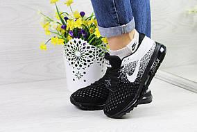 Кроссовки женские Nike Air Max 2017, черные с белым, материал - текстиль, подошва - гелевая 36