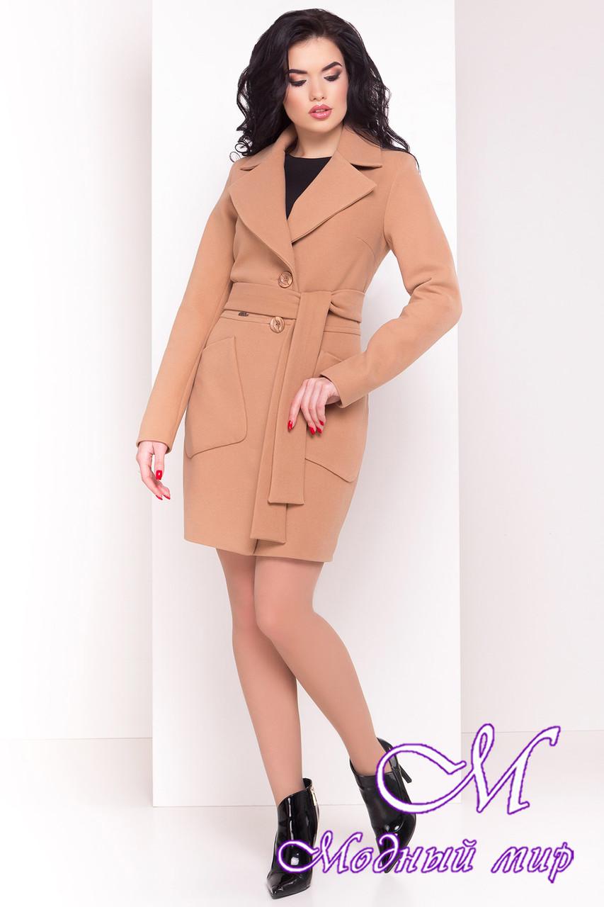 Женское кашемировое демисезонное пальто (р. S, M, L) арт. Габриэлла 4420 - 21656