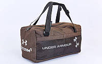 Сумка для спортзала Бочонок UNDER ARMOUR GA-019-BR (полиэстер, р-р 48х14х24см, кофе)