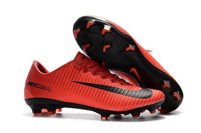 Бутсы Nike Mercurial Vapor Х FG black red - Интернет-магазин
