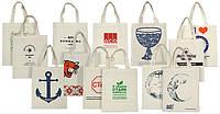 Эко-сумки с печатью логотипа компании и тд.