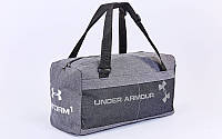 Сумка для спортзала Бочонок UNDER ARMOUR GA-019-GR (полиэстер, р-р 48х14х24см, серый)