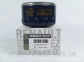 Renault Original 7700274177 - Масляный фильтр на Рено Логан, Логан MCV, Сандеро Stepway 1.4i 8V 1.6i 8V
