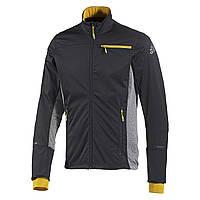 Кофта спортивная мужская adidas Xperior S92304 (темно-серая, молния, для бега, лыжная, активная, бренд адидас)