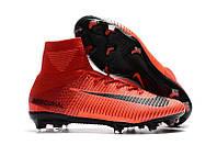 Мужские бутсы Nike Mercurial Superfly V FG black/red, фото 1