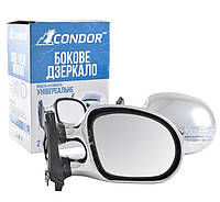 Зеркала хром с поворотом (+LED габарит) Condor K1022 пойдут на ВАЗ 2101/03/06 (2 шт.)