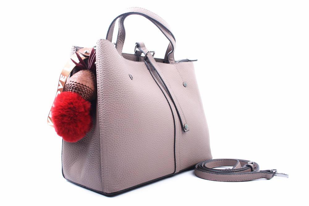 Сумка женская стильная, эко-кожа, цвет визион, средний размер, прямоугольная форма