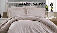 Постельное бельё сатин Altinbasak  евро Easter kahve