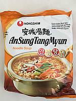 Лапша быстрого приготовления с грибами та водорослями AnSungTangMyun Nong Shim 125 г