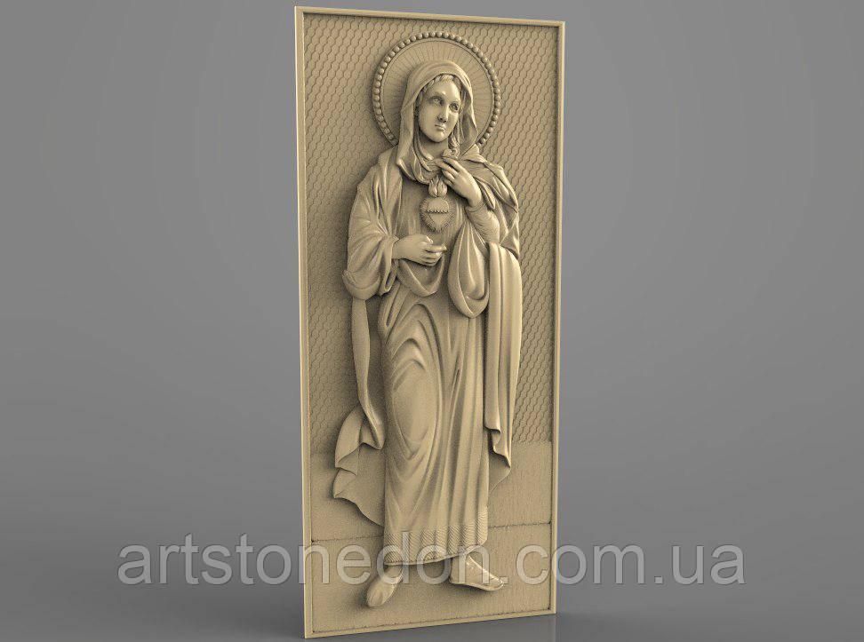 Икона резная Святая Мария