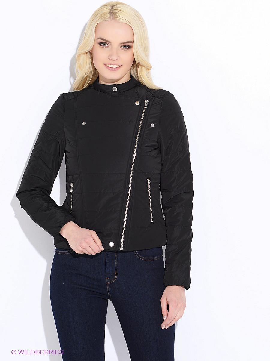 Куртка косуха женская бренда Vero moda в черном и сером цвете