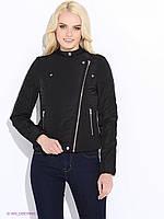 Куртка косуха женская бренда Vero moda в черном и сером цвете M