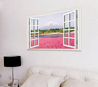 Наклейка виниловая Распахнутое окно на гору