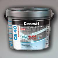 Эластичный водостойкий цветной шов Ceresit CE 40 Aquastatic (белый), 2кг