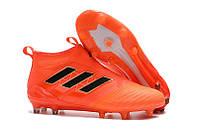 Adidas ACE 17+ PureControl FG orange с носком, фото 1