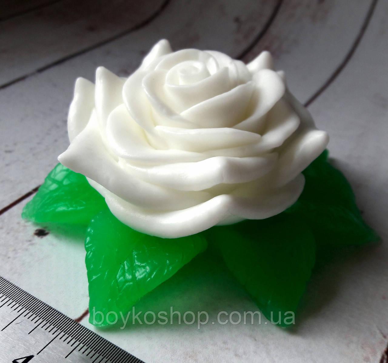 Мыло Роза с листочками