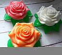 Мыло Роза с листочками, фото 2