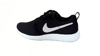 Мужские летние Кроссовки Nike roshe run  черный