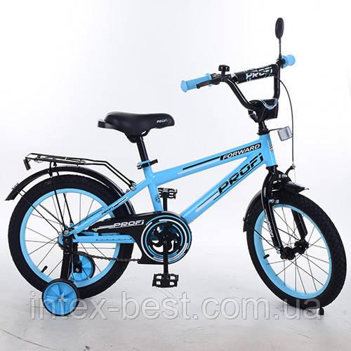 """Детский двухколесный велосипед PROFI Forward Голубой 14"""" (T1474)"""