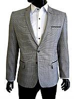 Мужской пиджак приталенный  в клетку № 97/5 - Престиж, фото 1