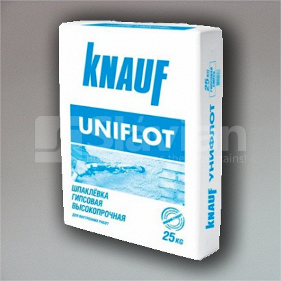 Шпаклевка гипсовая для стыков гипсокартона Knauf Uniflott, 25кг