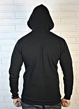 Мужская черная кенгурушка с капюшоном, фото 3