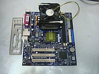 Материнская плата S478 Foxconn 845GV4MR-ES с процессором Celeron и оперативной памятью, фото 1
