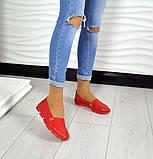 Женские эспадрильи Comfort красные кожаные, фото 5