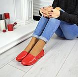Женские эспадрильи Comfort красные кожаные, фото 6
