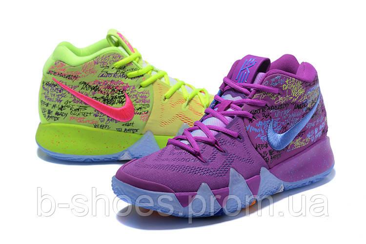 Мужские баскетбольные кроссовки Nike Kyrie 4 (green/violet)