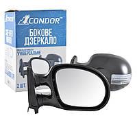 Зеркала черные с поворотом (+LED габарит) Condor K1021 пойдут на ВАЗ 2101/03/06 (2 шт.)