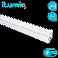 Линейный светильник светодиодный T5, Ilumia 18Вт, 1200мм, 4000К (нейтральный белый), 1500Лм (078)