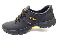 Мужские кроссовки Ecco biom весна-осень кожа натуральная черные 0043Е