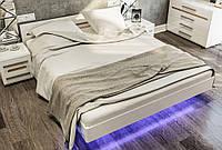 Кровать двухспальная 160 Бьянко Світ Меблів