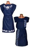 Хит сезона! Трикотажные платья с вышивкой Роксолана ТМ УКРТРИКОТАЖ - стильно, эффектно и модно!