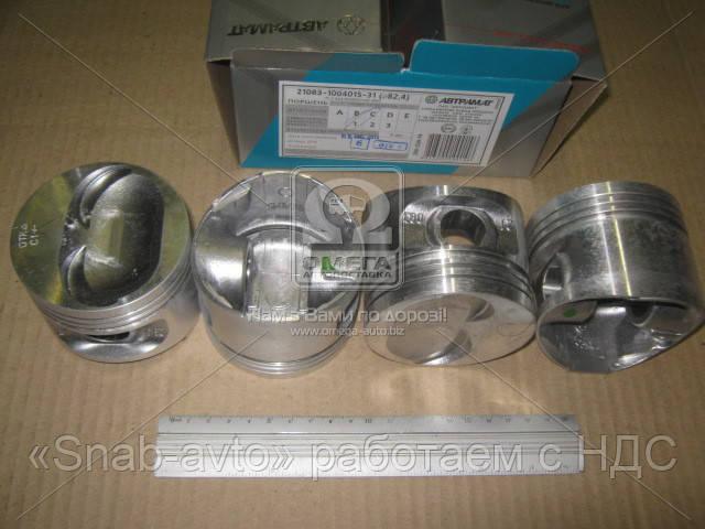 Поршень цилиндра ВАЗ 21083,11113 d=82,4 гр.C М/К (производство Автрамат) (арт. 21083-1004015-АР), ACHZX