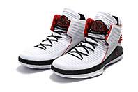 Детские баскетбольные кроссовки Air Jordan 32 (white/black/red), фото 1