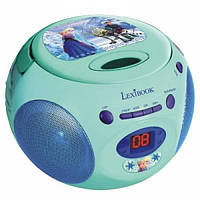 Детский бумбокс страна льда CD плеер Радио Frozen Lexibook RCD102FZ