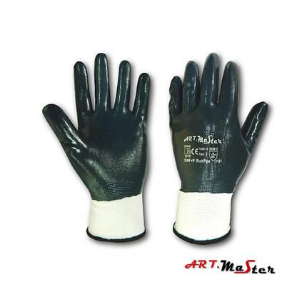 Рукавички Rnit PPE з повним нітріловим покриттям синього кольору - Art.Master -  розмір  10  , фото 2