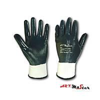 Рукавички Rnit PPE з повним нітріловим покриттям синього кольору - Art.Master -  розмір  10