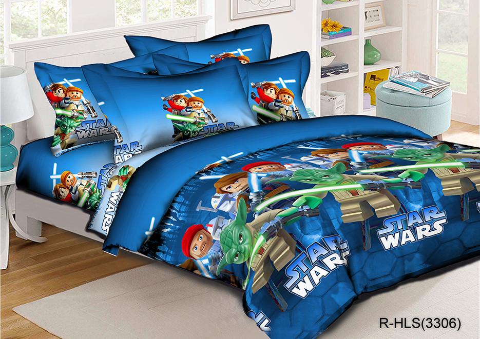 Полуторный комплект постельного белья 145х215 из ранфорса Звездные войны (1.0) (70х70)