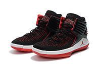 Детские баскетбольные кроссовки Air Jordan 32 (black/white/red), фото 1