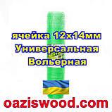 Сетка 1х100м зеленая ячейка 12х14мм вольерная пластиковая Универсальная, для птичников и вольеров, фото 3