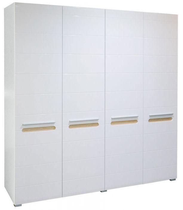Шкаф 4Д Бьянко Світ Меблів (Белый глянец)