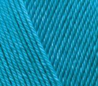 Пряжа Alize Diva Stretch бирюзовый №245 летняя для ручного вязания