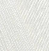 Пряжа Alize Diva молочный №62 летняя для ручного вязания