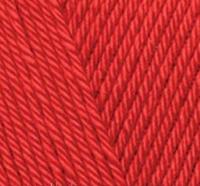 Пряжа Alize Diva красный №106 летняя для ручного вязания